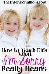 """How to Teach Your Kids What """"I'm Sorry"""" Really Means"""
