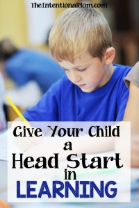 Give Your Child a Head Start in Learning