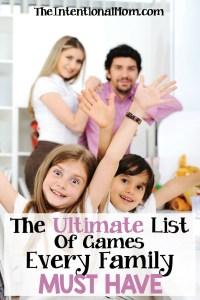 The Ultimate List of Games Every Family Must Have