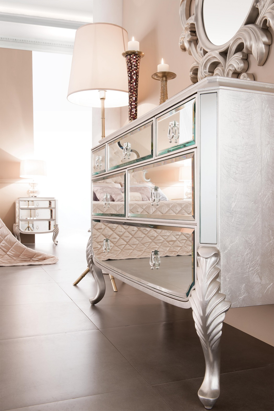 Mirrored Dresser Bedroom Dresser Florentine