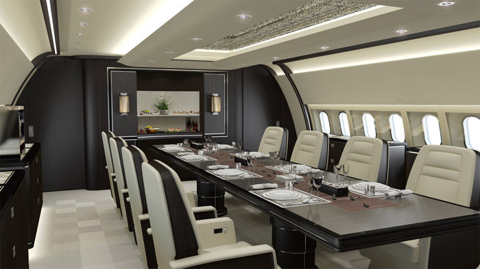 Top 10 Best High End Business Amp Private Jet Interior