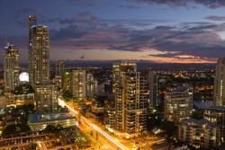 Gold Coast Skyline at Night