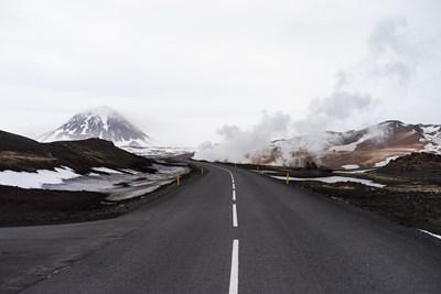 wintery road