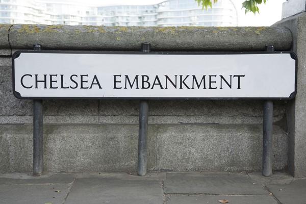 Chelsea Embankment Street Sign