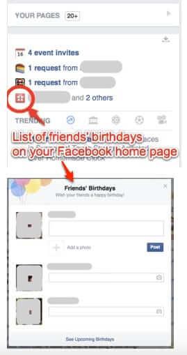 My Facebook Friends Birthday List