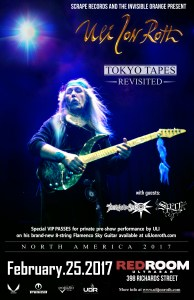 "Uli Jon Roth ""Tokyo Tapes Revisited\"" w/guests - Vancouver Feb.25 @ Red Room Ultra Bar (Vancouver) 