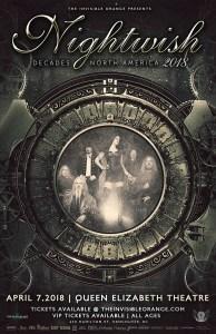 Nightwish :: Queen Elizabeth Theatre @ Queen Elizabeth Theatre | Vancouver | British Columbia | Canada