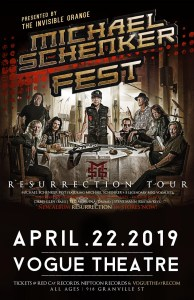 MICHAEL SCHENKER FEST @ The Vogue Theatre | Vancouver | British Columbia | Canada