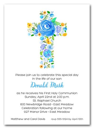 Modern Christening Invitations