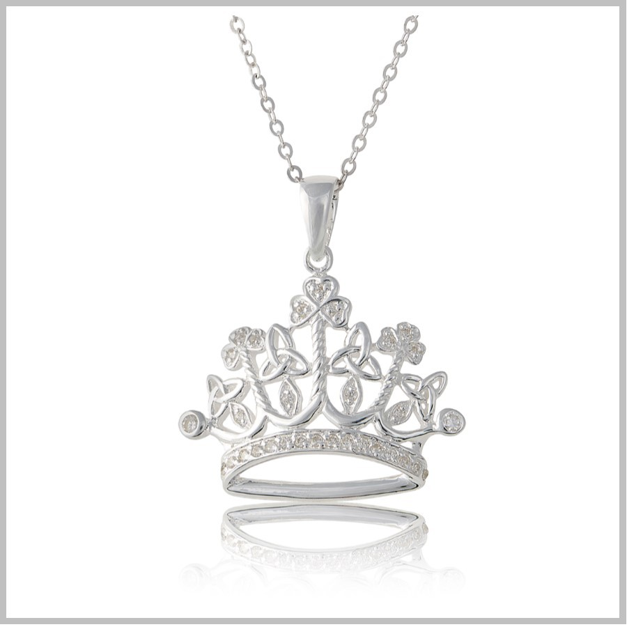 Irish Princess Necklace Irish Princess Crown Pendant