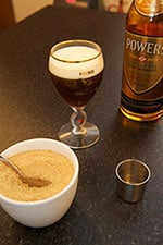 The ingredients for an Irish coffee - The Irish Place