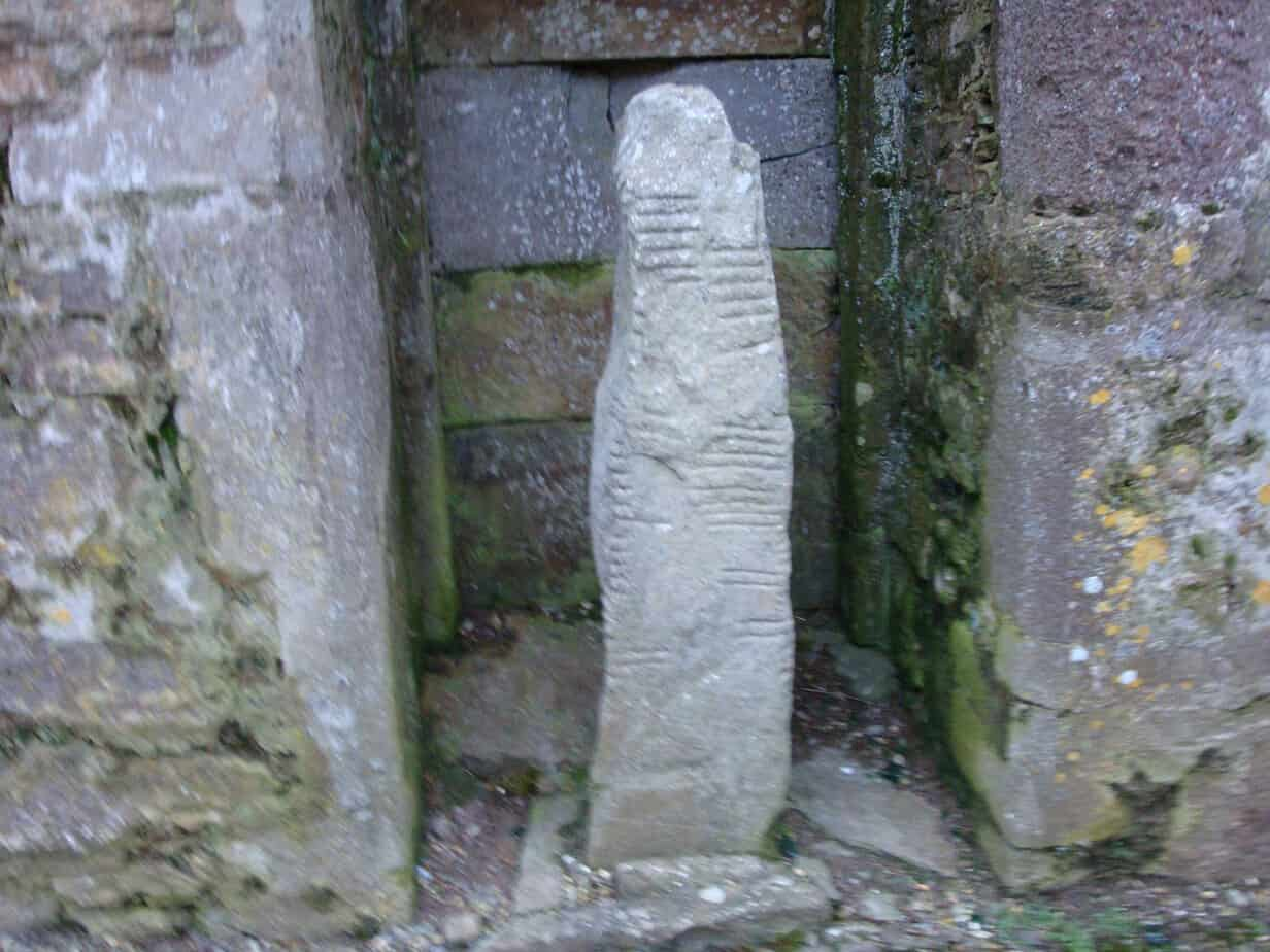 One of the Ogham Stones in Ardmore - The Irish Place