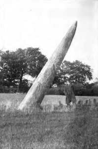 The Long Stone of Punchestown (From a Photograph by Lord Walter FitzGerald, March, 1901) - The Irish Place