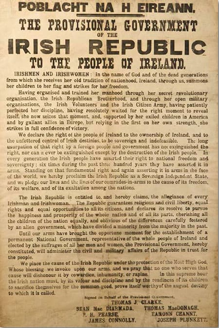Proclamation of Independence - The Irish Place