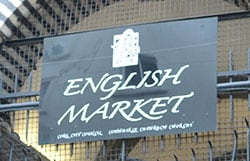 Sign above the entrance to The English Market in Cork. - The Irish Place