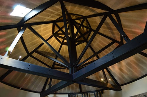 The elaborate roof support in Reginald's Tower. - The Irish Place