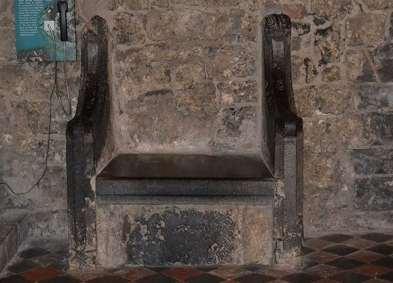 The thirteenth century St. Kieran's Chair. - The Irish Place