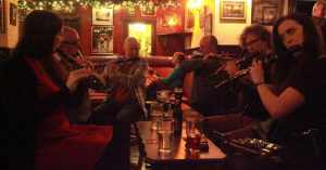 A session where the main instrument being played is the Irish Flute - The Irish Place