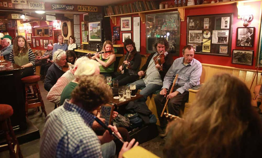 A typical Irish Traditional Music session at Cooley's House in Ennistymon, Co. Clare - The Irish Place