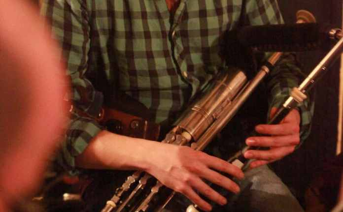Uilleann Pipes being played at the Corofin Traditional Festival 2015. Photo: Bob Singer - The Irish Place