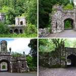 Various views of the Towers and Bridge at Ballysaggartmore - The Irish Place