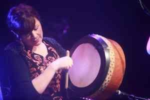 Kathy Jordan playing the Bodhrán - The Irish Place