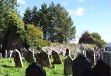 The ruins of Medieval Seskinan Church at Knockboy - The Irish Place