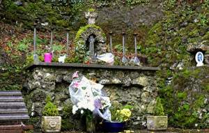 Altar at Tobernalt Holy Well with Penal Cross - The Irish Place