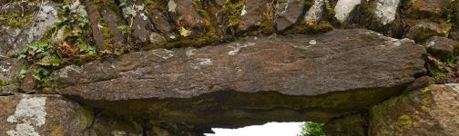 The Ogham Stone used as a lintel in the South Wall near the Eastern Gable Wall in Seskinan Church - The Irish Place