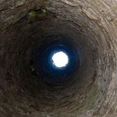 Internal upwards view from the doorway in the tower at the Kilree Monastic Site - The Irish Place