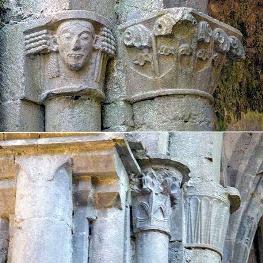 Decorated Capitals at Corcomroe Abbey - The Irish Place