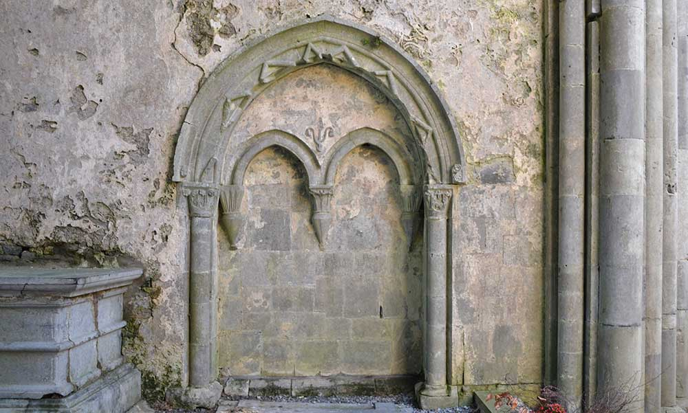 Carved Capitals in Corcomroe Abbey - The Irish Place