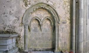 The Sedilia in Corcomroe Abbey - The Irish Place #theirishplace