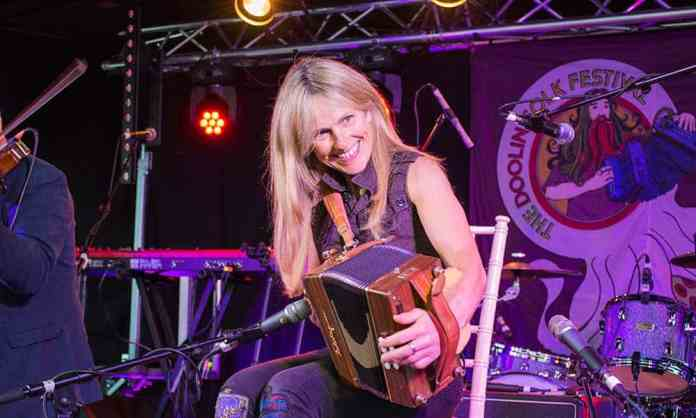 Sharon Shannon with 'The Sharon Shannon Band' at the Doolin Folk Festival 2017 - The Irish Place #doolinfest #theirishplace