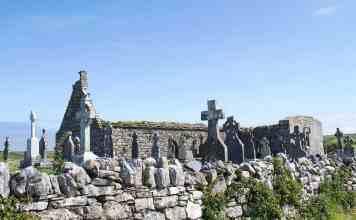 The ruins of Killilagh Church in Doolin, Co. Clare.