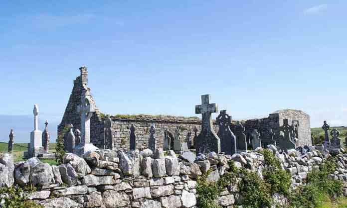 The ruins of Killilagh Church in Doolin, Co. Clare.