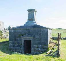 The MacNamara Vault next to Killilagh Church in Doolin Co. Clare which was used to intern prisoners during the time of the 'troubles'.