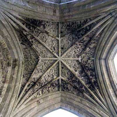 The ceiling of the crossing tower.