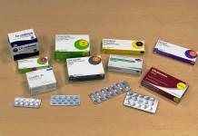 A selection of some common prescription medicines