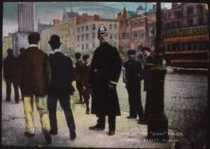 A representation of a Dublin Metropolitan Policeman.