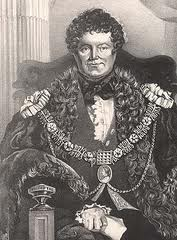 Daniel O'Connell in the robes of the Lord Mayor of Dublin.