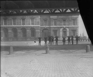 IRA prisoners taken after the Custom House raid