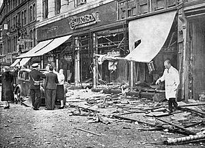The aftermath of an IRA bomb in Coventry in August 1939 that killed 5 civilians.