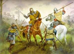 Edward Bruce in combat Faughart