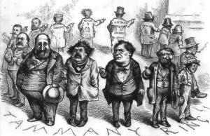 A cartoon criticising Tammany Hall corruption.