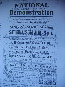 A 'National Demonstration' in Stirling, featuring Ruairidh Erskine.