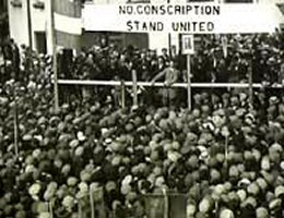 An anti-conscription rally in Roscommon, 1918.