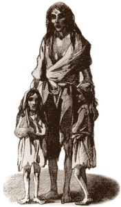 A depiction of a mother and children at Skibbereen during the famine.
