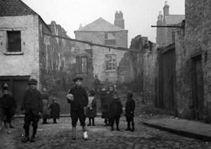 Dublin slums.