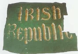 The Republican flag flown in the Rising of 1916.